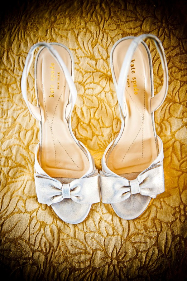 San Diego Wedding Photography: True Photography captures photo of white Kate Spade wedding shoes