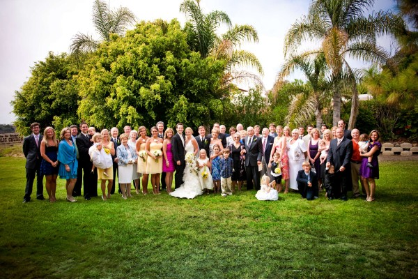 San Diego Wedding Photography: True Photography captures family group portrait after wedding ceremony in San Diego