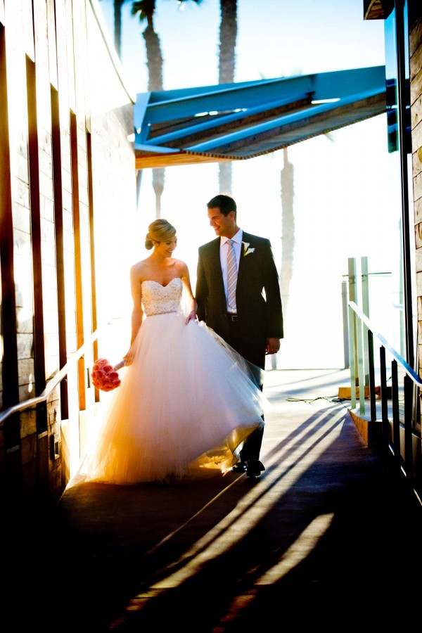 San Diego Wedding Photographer: True Photography captures beautiful bride and groom after ceremony