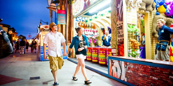 A colorful engagement shoot with a San Diego couple at Belmont Park