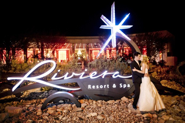 True Photography Wedding Photography San Diego: Nighttime wedding recption Riviera Resort and Spa in Palms Springs