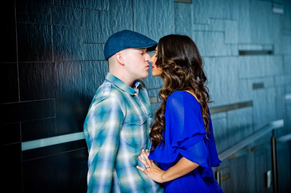 San Diego Wedding Photography kissing engagement shoot downtown San Diego