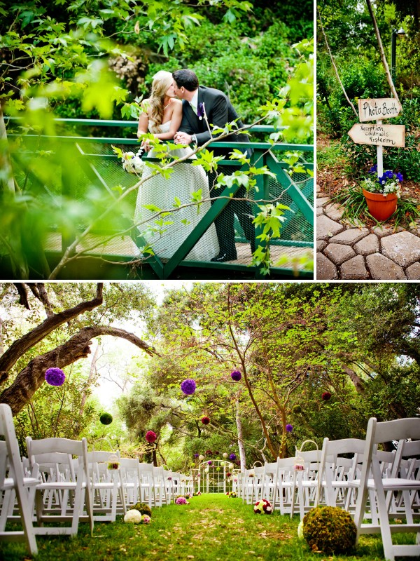 San Diego wedding photographer True Photography captutes bride and groom kissing on a bridge after reception under the trees in Temecula