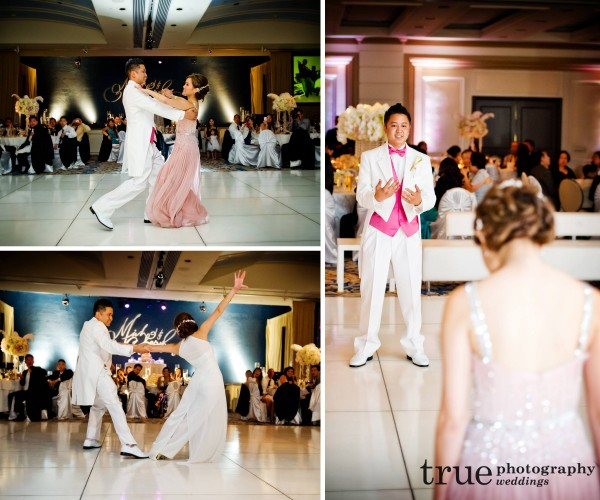 A coreographed first dance at a San Diego wedding