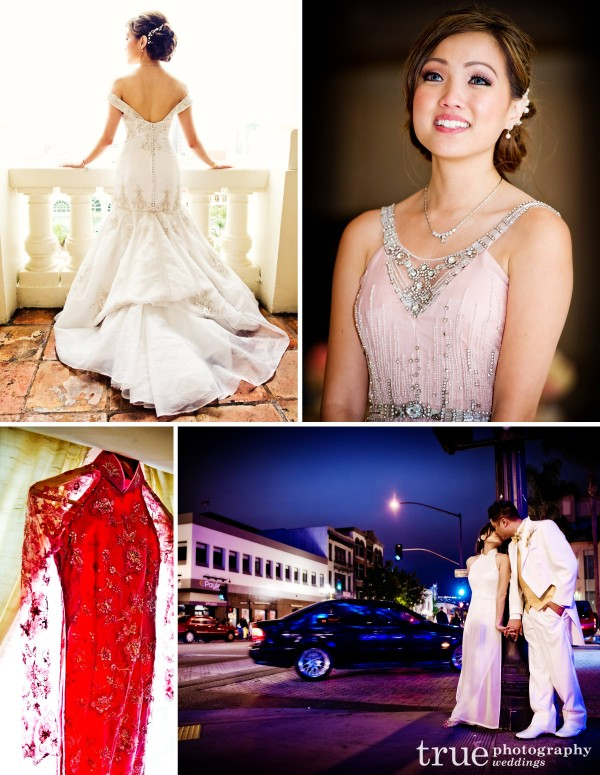 A bride with multiple dress changes for cultural wedding reception at US Grant