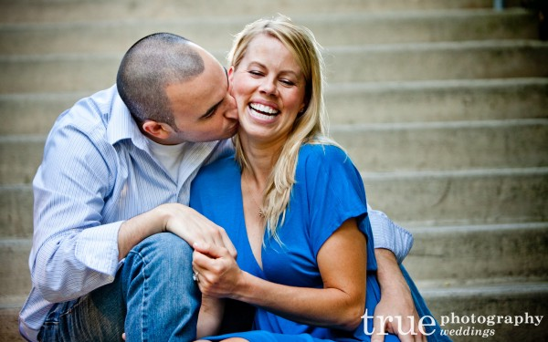 San Diego Wedding Photographers- portrait on the stairs at the San Diego Zoo