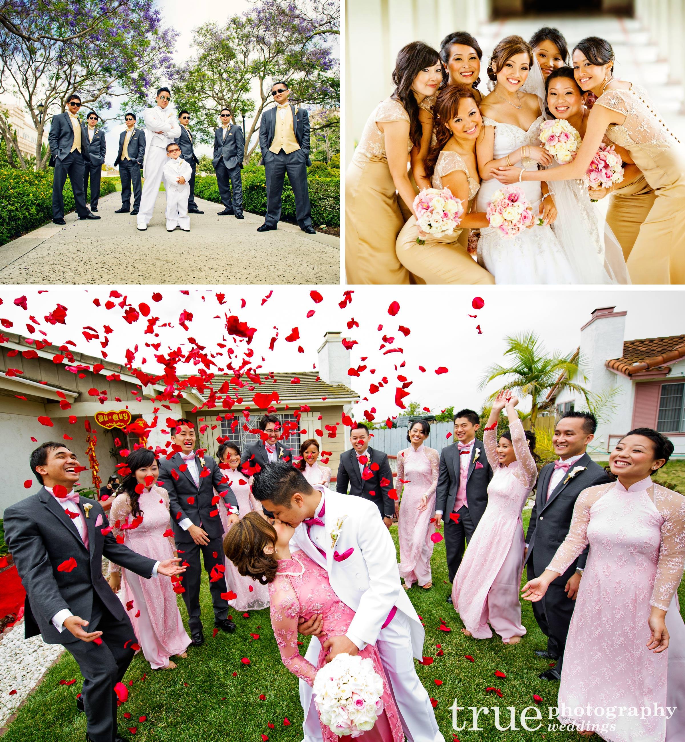 A Vietnamese Wedding Celebration Goes Glamorous -
