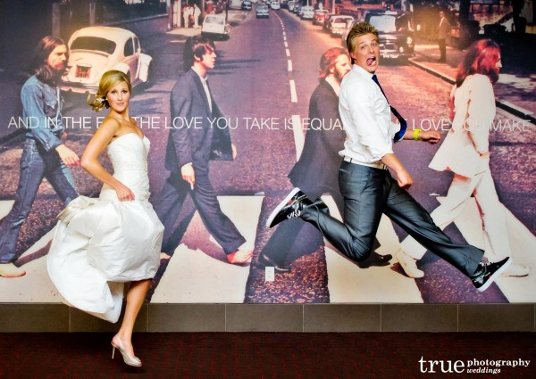 San Diego Wedding Photography: Meghan and Cheyne Amazing Race beatles themed wedding at the Hard Rock Hotel San Diego