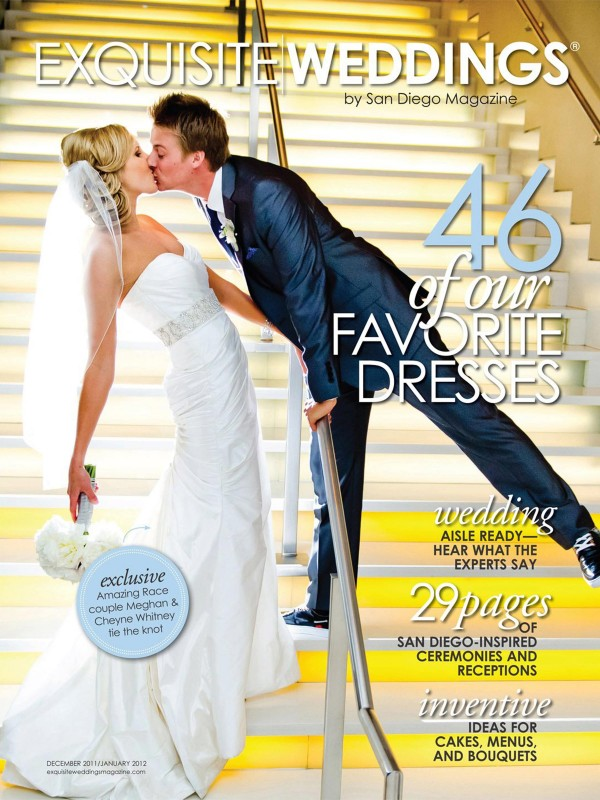 San Diego Wedding Photography: Amazing Race Meghan and Cheyne wedding on the cover of Exquisite Weddings by True Photography