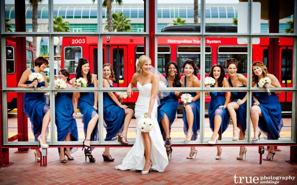 San Diego Wedding Photography: Photos of bridesmaids at Meghan and Cheyne from Amazing Race wedding at Hard Rock Hotel San Diego