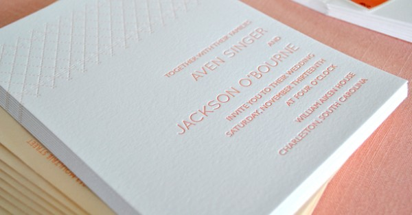 True Photography Wedding Photography loves letterpress invitations by Delphine