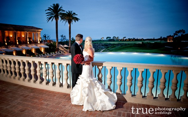 Orange County Wedding Photographers_ Bride and grooom portrait after wedding ceremony at Pelican Hill, Orange County