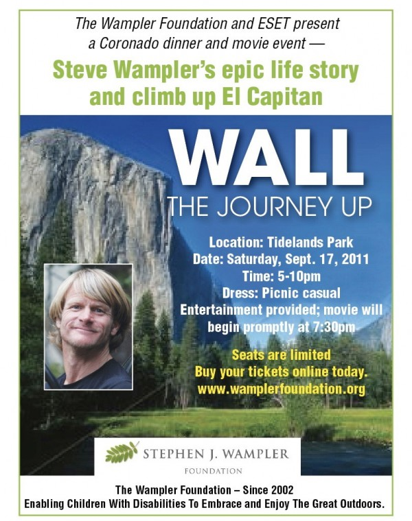 "Exclusive screening of ""WALL the Journey UP"" about Steve Wampler  man with cerebral palsy to climb world's largest rock face"