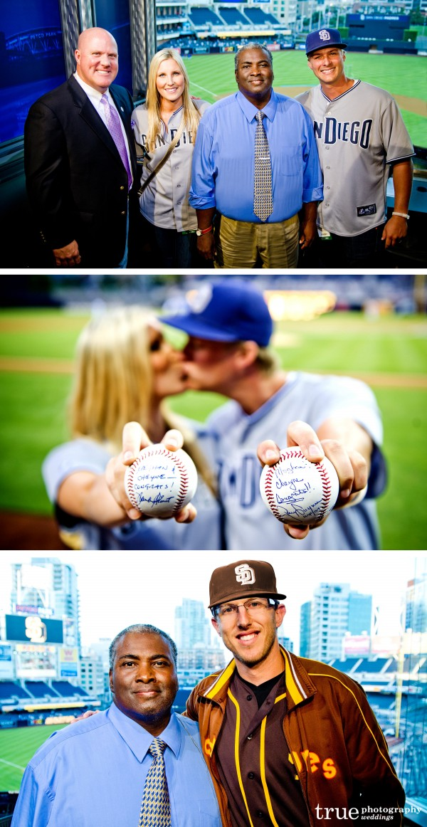 San Diego Wedding Photography: Aaron Feldman of True Photography photos with San Diego Padres Tony Gwynn, Mark Grant and Meghan and Cheyne from The Amazing Race