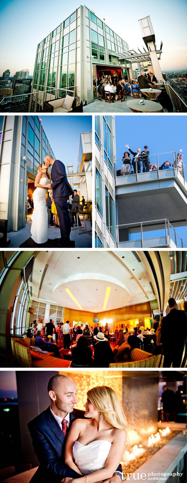 True Photography Weddings San Diego: Ultimate Skybox at Diamond View Tower San Diego Bay and Coronado
