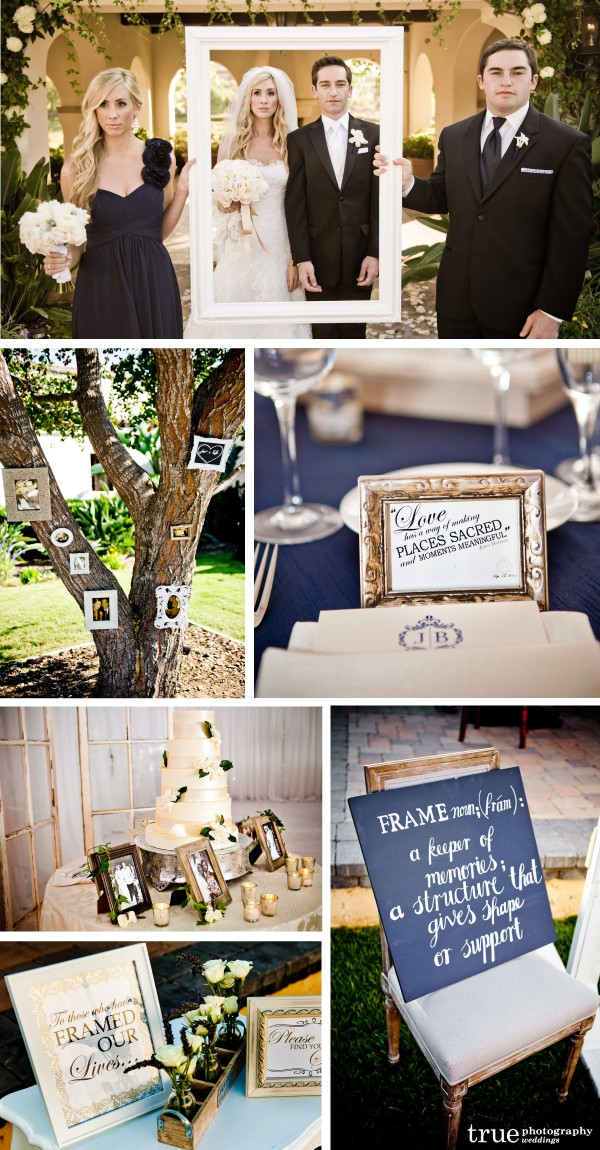 San Diego Wedding Photographer: Wedding had a picture frame theme at The Crosby in Rancho Santa Fe