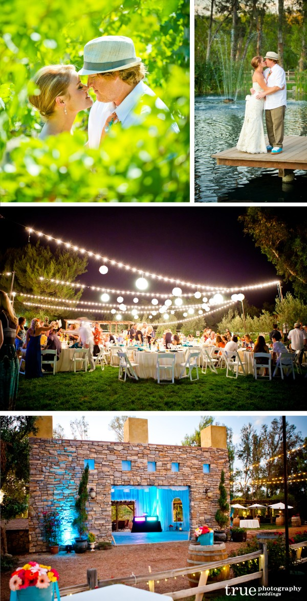 San Diego Wedding Photography: Paper lanterns, candles, firepits and nature at Lake Oak Meadows Winnery in Temecula, California