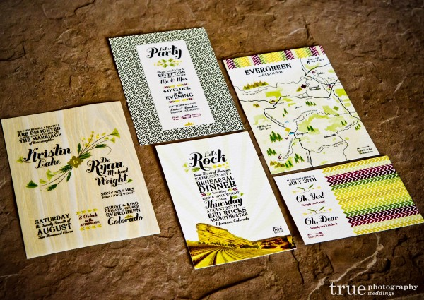 San Diego Wedding Photography: Bohemian wedding invitation and stationary printed on bamboo