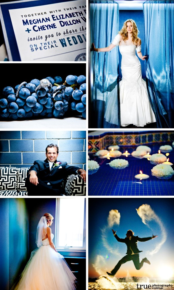San Diego Wedding photography: Blue wedding photos, blue wedding invitation, blue wedding details, florals, accessories