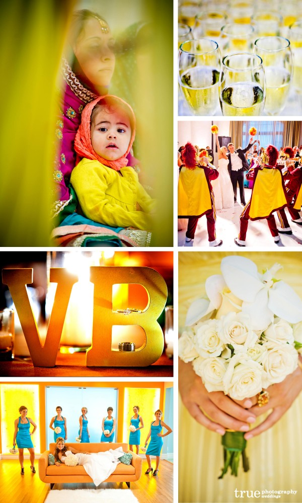 San Diego Wedding Photography: Yellow themed wedding, yellow flowers, yellow bridesmaids dresses, yellow weddign details, yellow wedding color