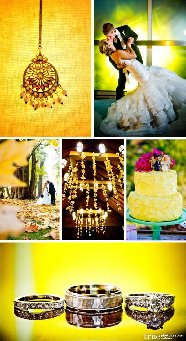 San Diego Wedding Photography: Yellow wedding photos, yellow wedding theme, yellow wedding details, yellow flowers
