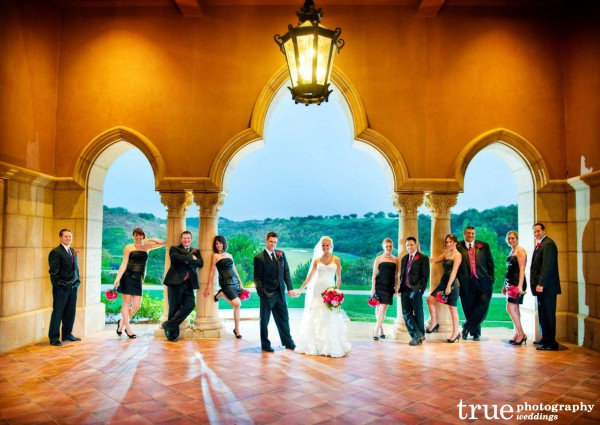Bridal-party-in-the-Moraccan-Pavillion-at-the-Grand-Del-Mar