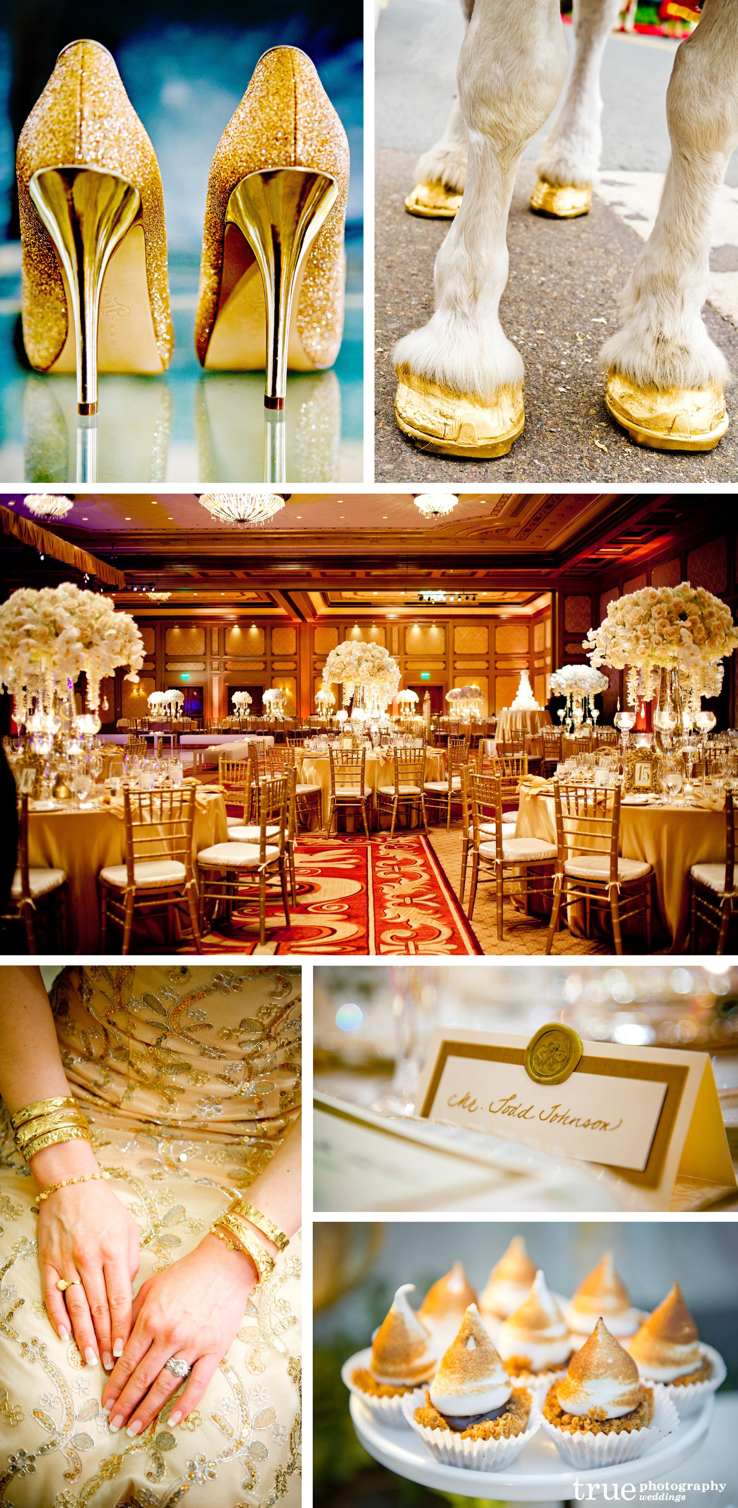 Свадьба в золотых тонах фото