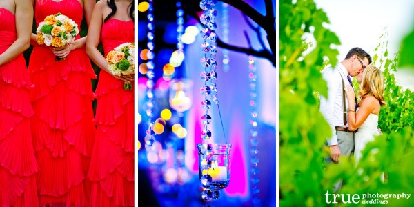 San Diego Wedding Photographers show the Twelve Days of Color to highlight Wedding Colors