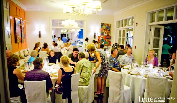 San Diego Wedding Photography: Destination Wedding in Turks & Caicos dinner