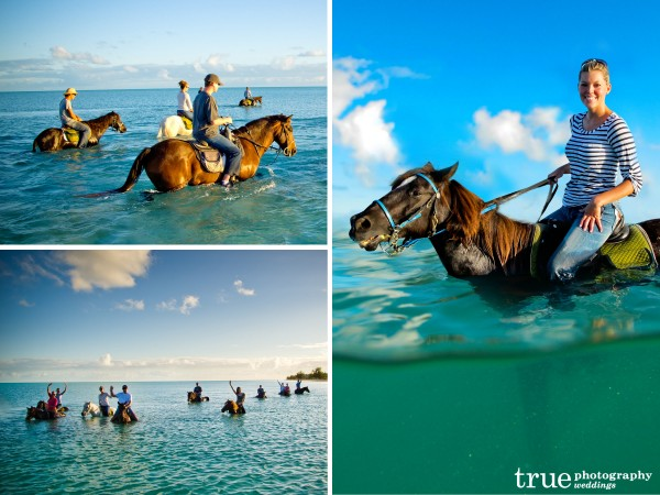 San Diego Wedding Photographers: Destination Wedding in the Caribbean horseback riding on the beach