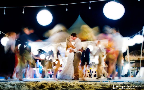 San Diego Wedding Photographers: Bride and groom dancing during destination wedding on the beach in Turks & Caicos