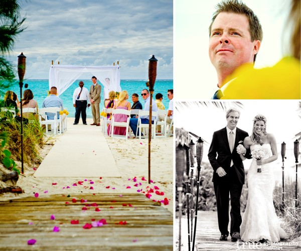 San Diego Wedding Photographer: Beach ceremony at destination wedding in Turks and Caicos