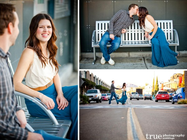 San Diego Wedding Photography: Urban engagement photos on the streeet in San Diego