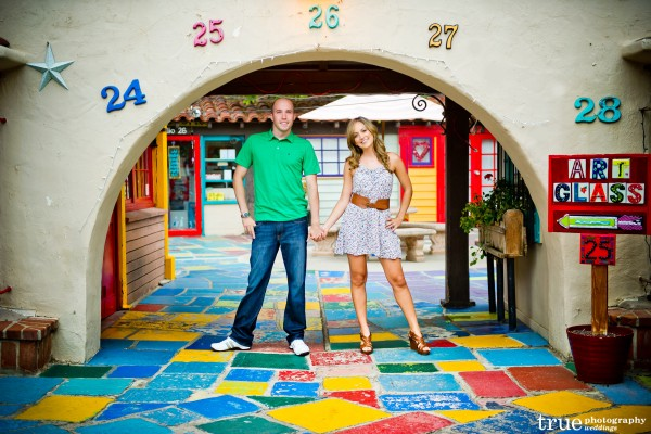 San Diego Wedding Photography: Fun and colorful engagement shoot in Balboa Park