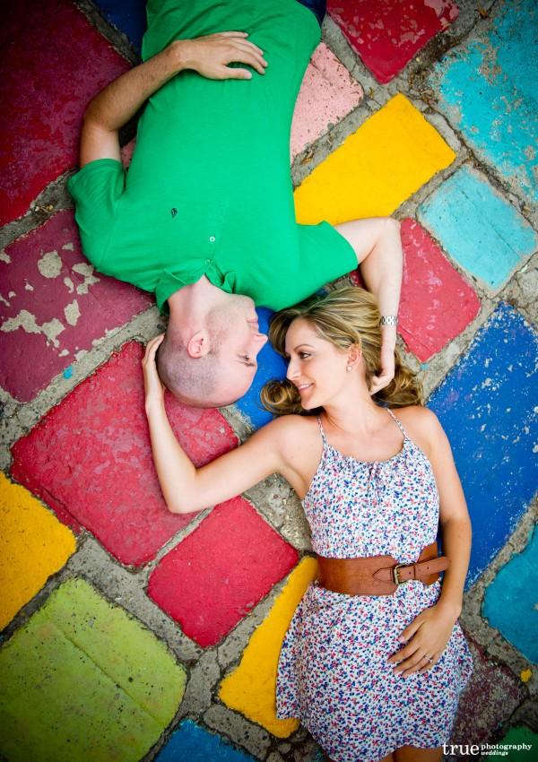 San Diego Wedding Photography: Engagement Photo Shoot in Spanish Village at Balboa Park San Diego