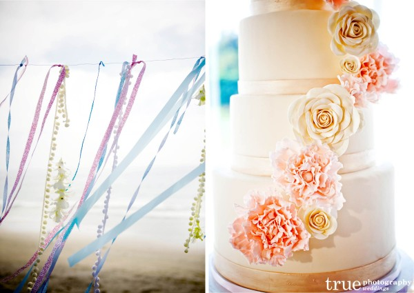 San Diego Wedding Photographer: Beach wedding cake and details