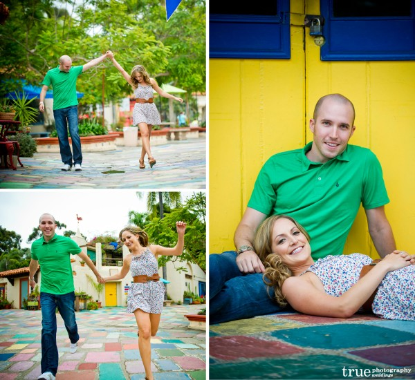 San Diego Wedding Photographers: Engagement Photo shoot in the Spanish Village in Balboa Park