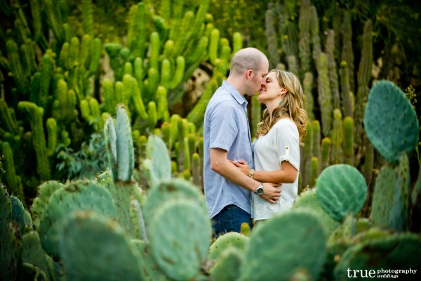 San Diego Wedding Photographer: Engagement Photo Shoot in the cactus garden at Balboa Park