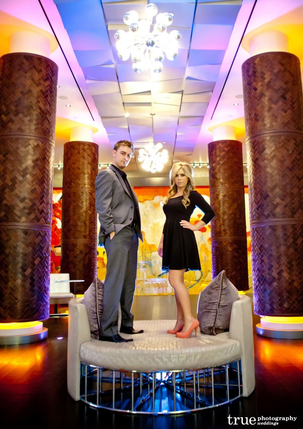 San Diego Wedding Photography: Engagement photo shoot at the Andaz Hotel in downtown San Diego