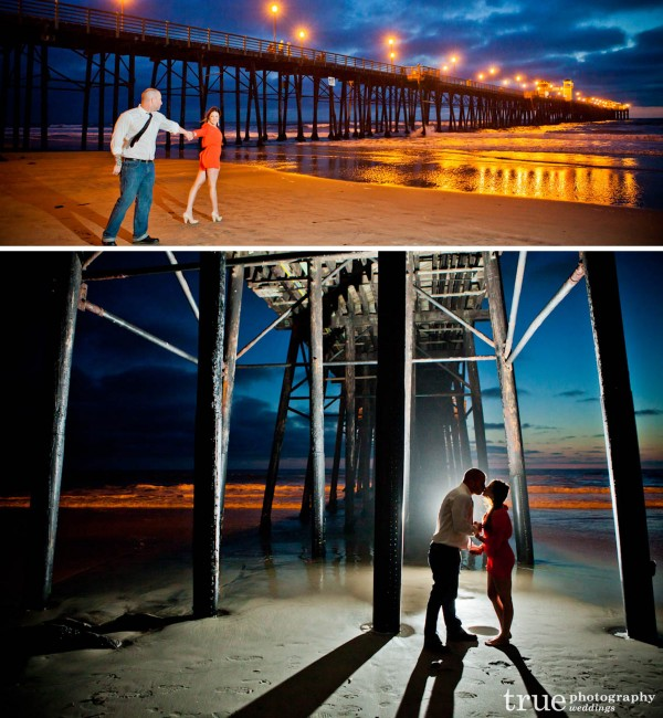 San Diego Wedding Photography: Engagement Photo Shoot at the Oceanside Pier