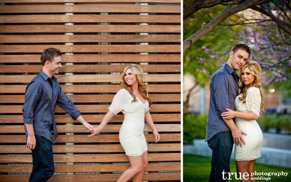 San Diego Wedding Photography: Urban engagement photo shoot in downtown San Diego