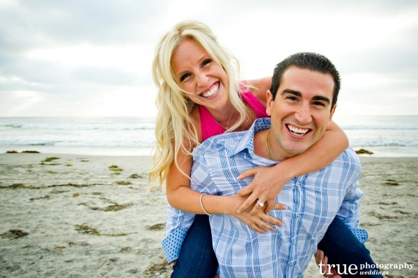 San Diego Wedding Photography: Beach engagement photos on the beach in Encinitas