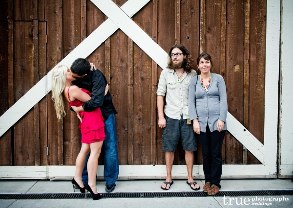 San Diego Wedding Photography: Funny engagement photo shoot in San Diego with hippie couple