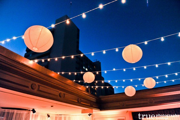 Outdoor lighting and lanterns by Tim Altbaum Productions