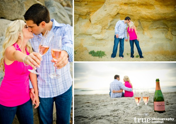 San Diego Wedding Photography: Engagement photos at the beach in Encinitas