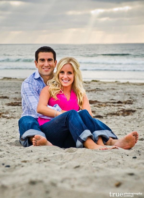 San Diego Wedding Photography: Engagement Photo shoot on the beach in Encinitas California