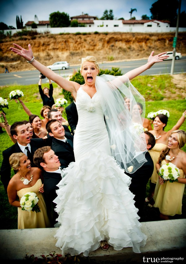 San Diego Wedding Photography:  Funny wedding photos by True Photography in San Diego