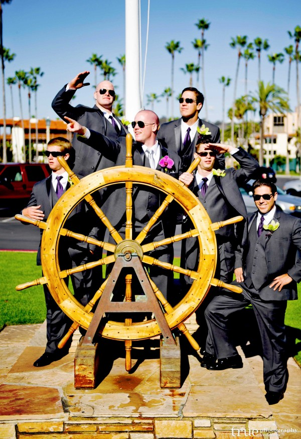 San Diego Wedding Photography: Nautical themed wedding groomsmen photo