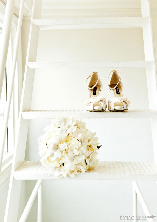 Kathy Wright and Co. Modern Gardenia Wedding Bouquet
