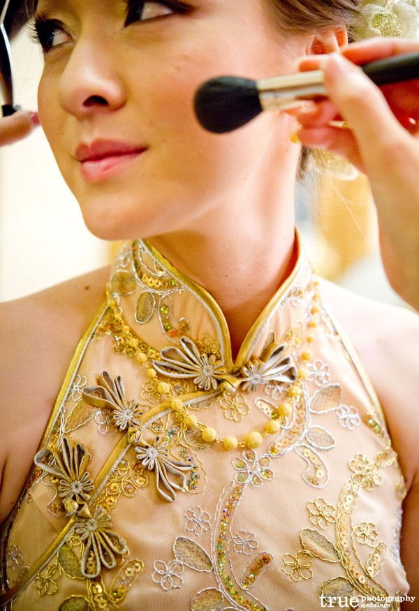 Gold Wedding Makeup by Flirt Makeup for wedding at the Grand Del Mar